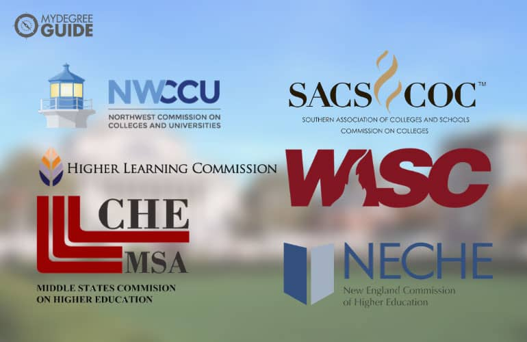 logos of six regional accreditation boards