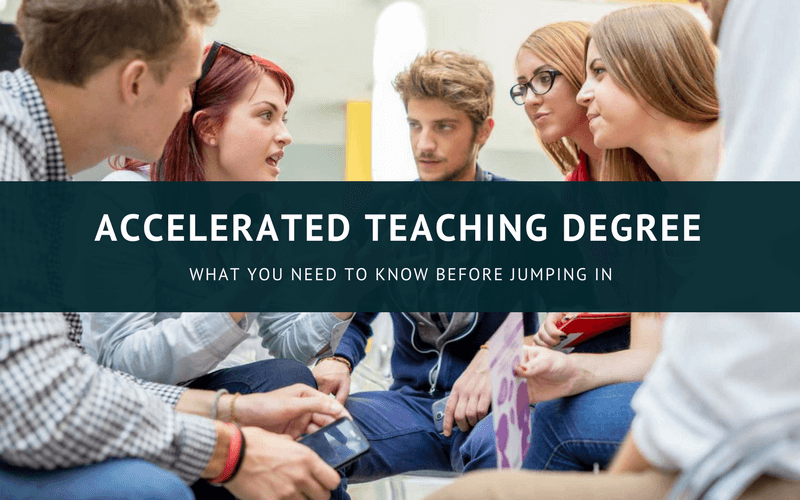 Accelerated teaching degree online