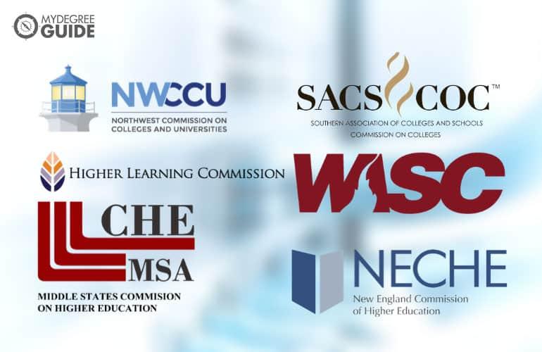 logos of the six regional accreditors