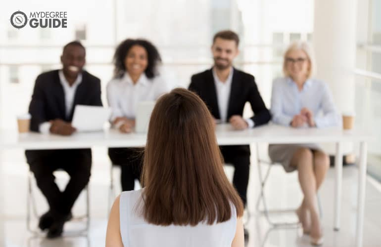 mba student in an admissions interview