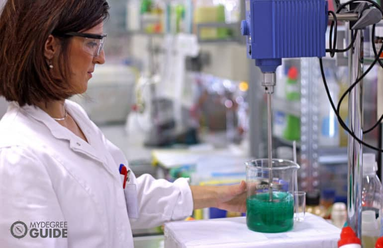 chemical engineer working in a laboratory