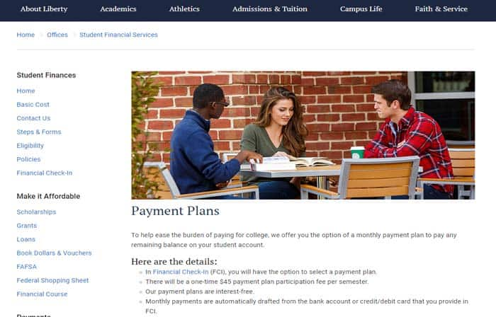 Interest free tuition payment plan
