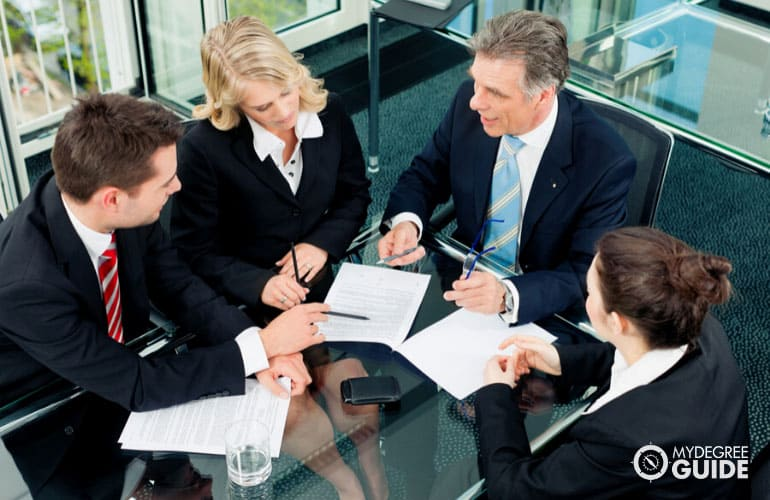 business consultants in a meeting