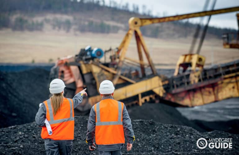 Mining Engineers working in a coal mine