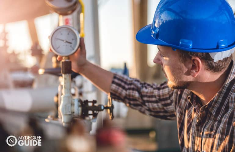 Petroleum Engineer working in a gas extraction company