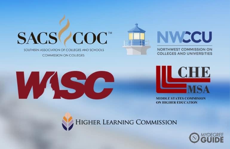 logos of the regional accreditors