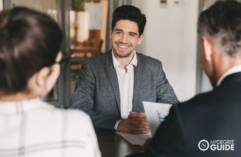 Recruiting Directors interviewing an applicant