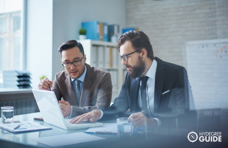 financial managers working together in an office