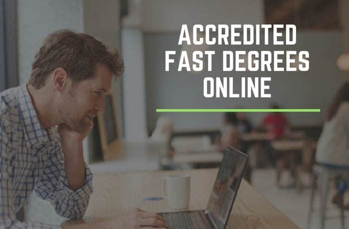 Accredited fast online degrees using a laptop