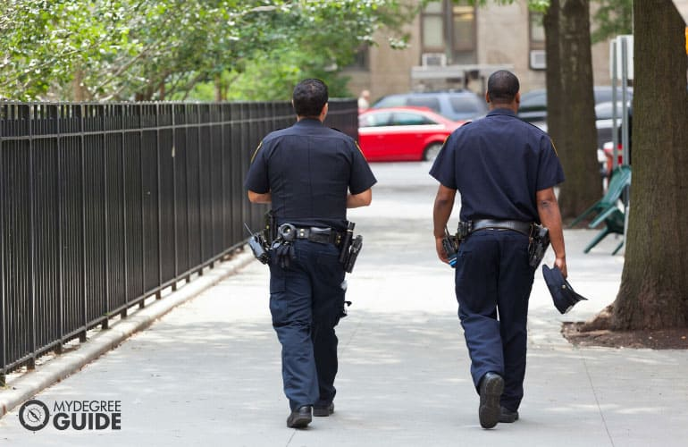 police officers working on the street
