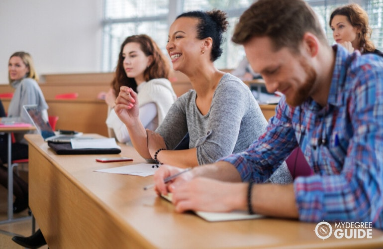 mba students in a university classroom