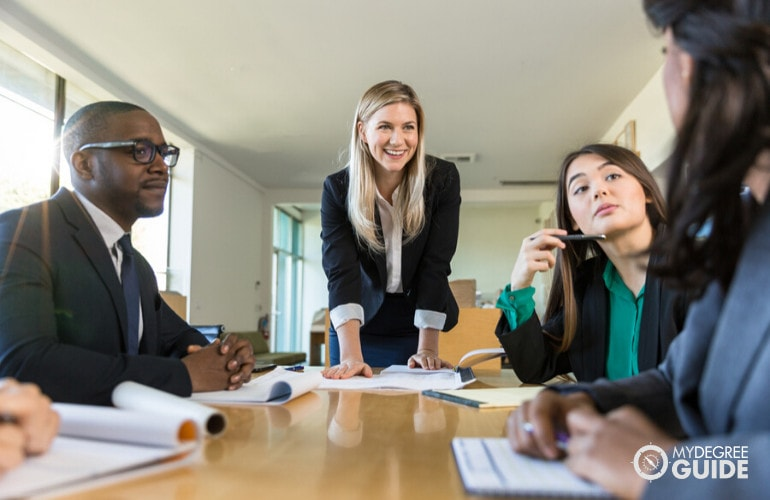 board members of a Nonprofit organization having a meeting