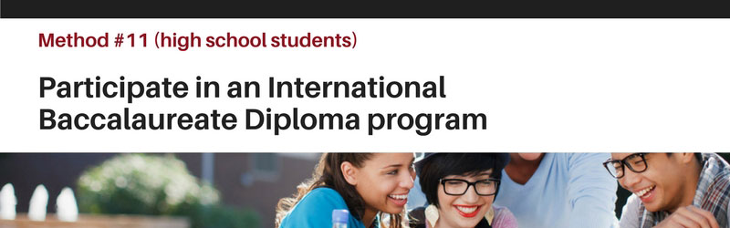 Quick Tip 11 - International Baccalaureate Program