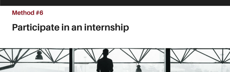 Quick Tip 6 - Internships