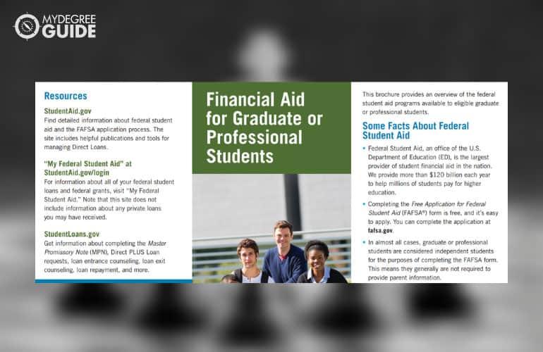 screenshot of the Graduate pdf