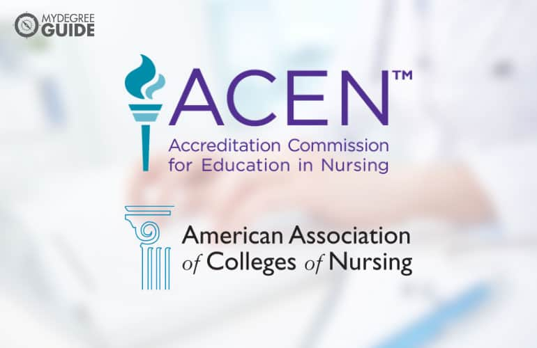 logos of the Accreditation Commission for Education in Nursing and the Commission on Collegiate Nursing Education