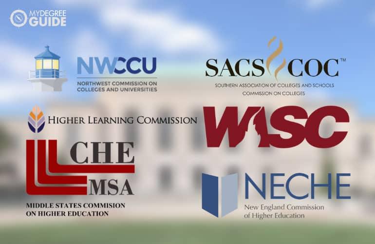 logo of six regional accreditation boards