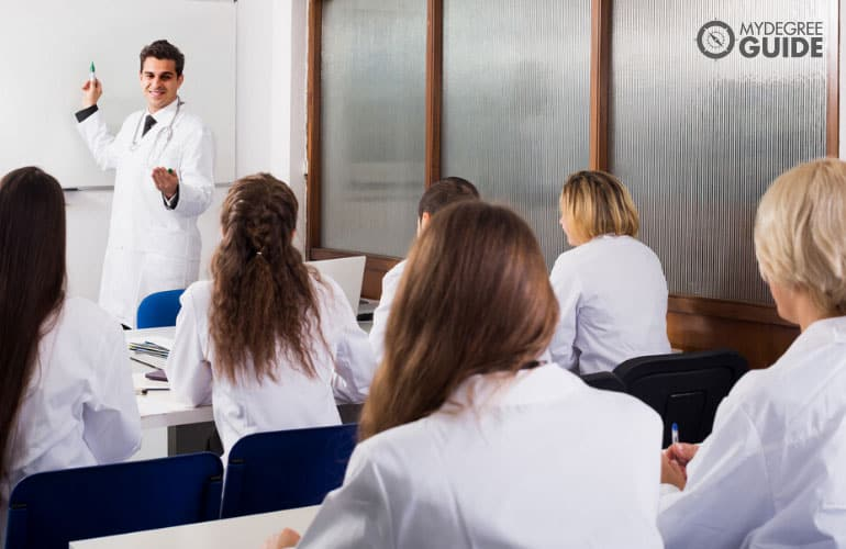 medical students in a classroom