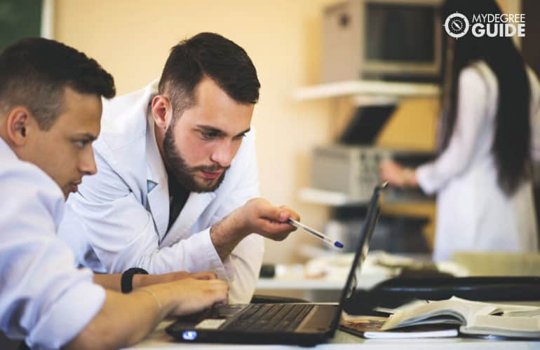 physicians researching in a laboratory