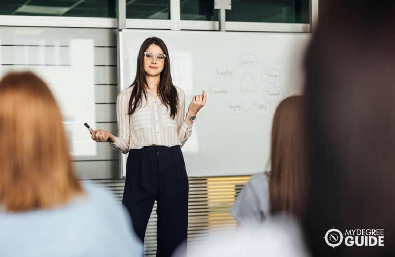 psychology professor teaching at a university
