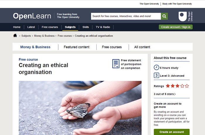 OPEN.edu - Creating an Ethical Organization