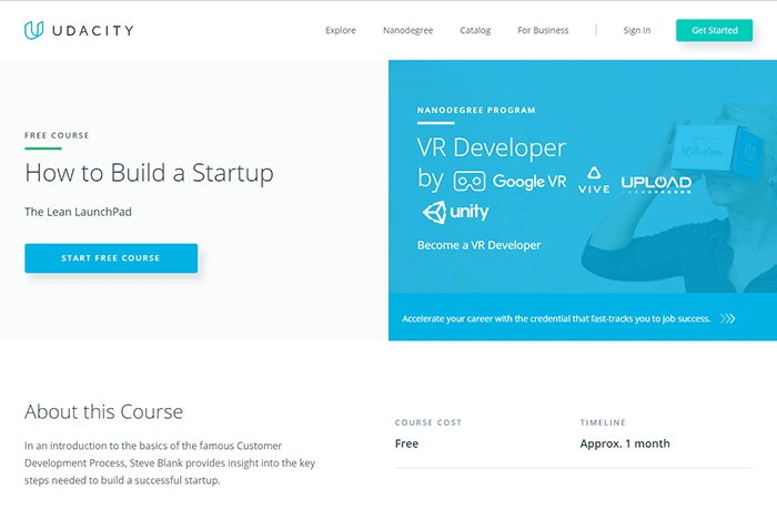 Udacity.com on How to Build a Startup