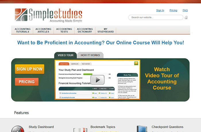 Simple Studies Online Accounting Lessons