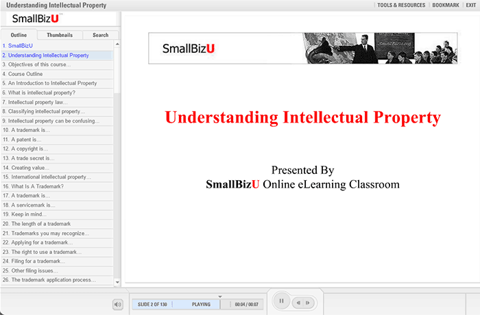 SmallBizU - Understanding Intellectual Property