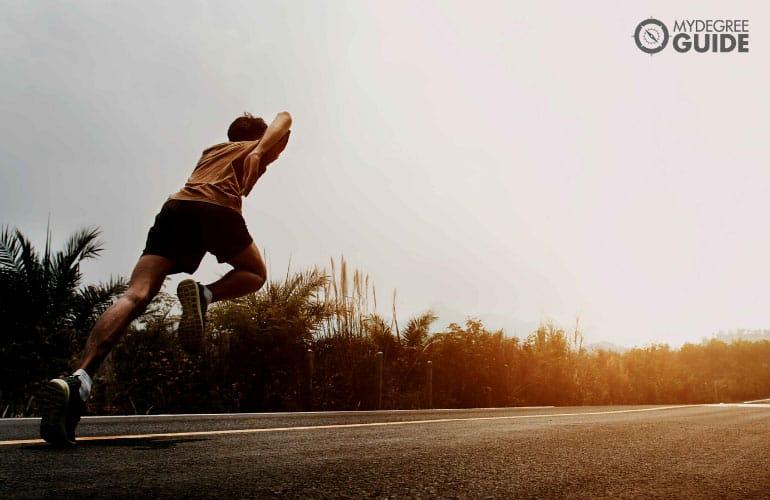 male runner running
