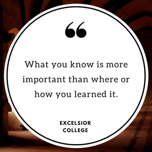 College credit for life experience Excelsior College