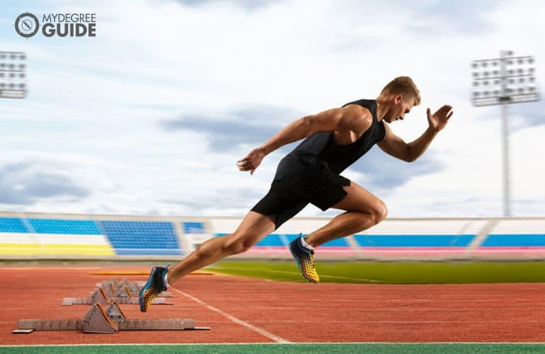 athletic runner running