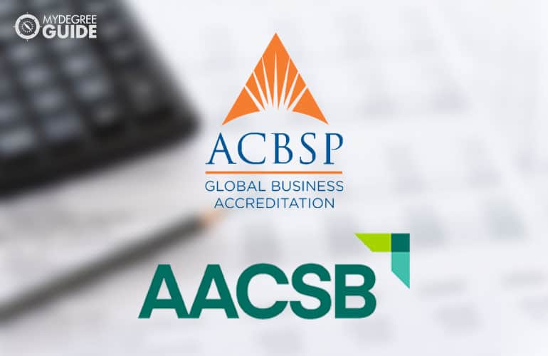 logos of the AACSB and the ACBSP