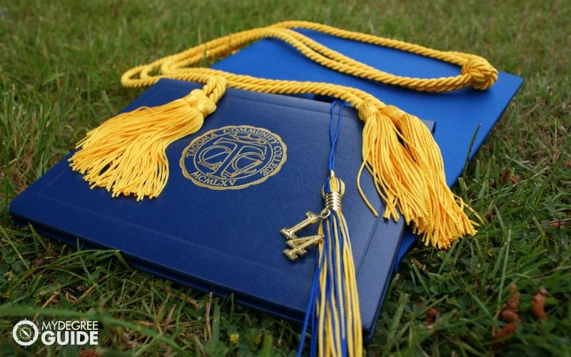 diploma on the grass
