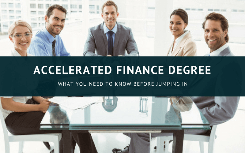 Accelerated finance degree online
