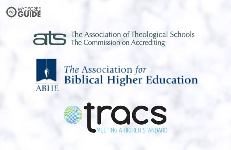 logos of organizations accrediting schools offering theology degree