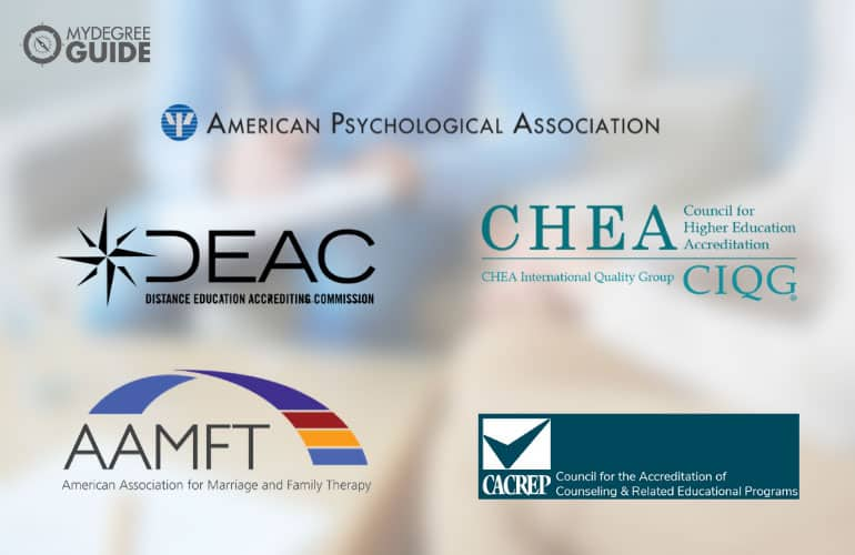 logos of Counseling Degree Accreditors