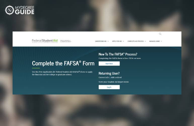 screenshot of FASA website