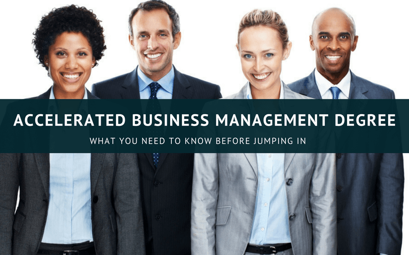 Accelerated business management degree online