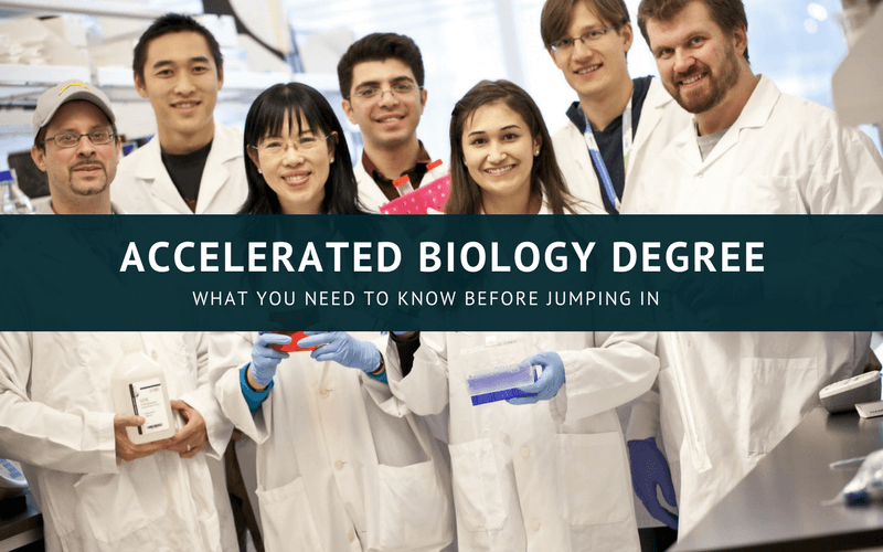 Accelerated Biology degree online