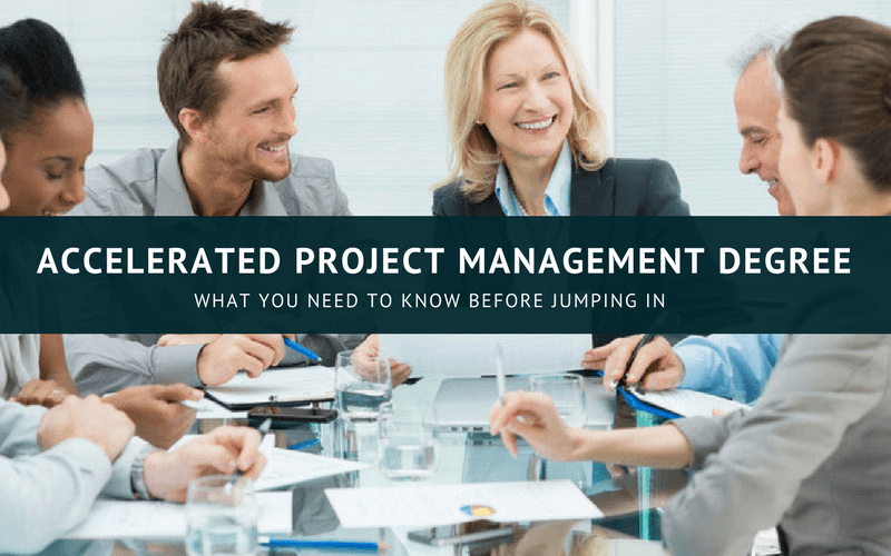 Accelerated project management degree online