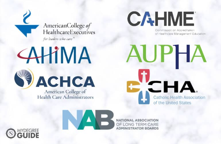 logos of Healthcare Administration Degree Accreditors