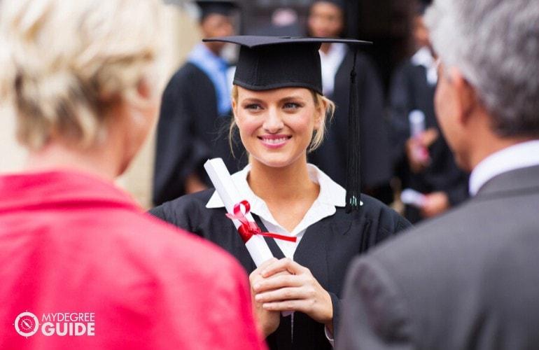 general studies degree student graduating