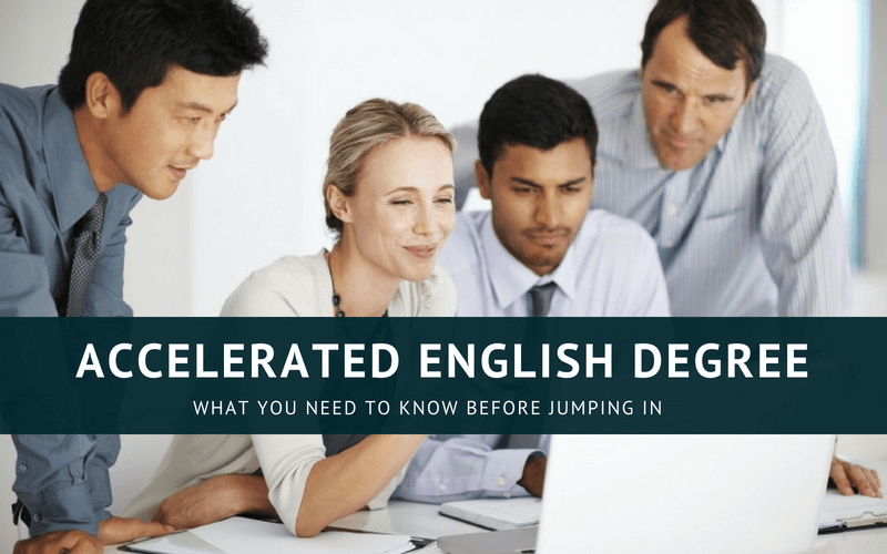 Accelerated english degree online