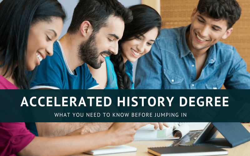 Accelerated history degree online