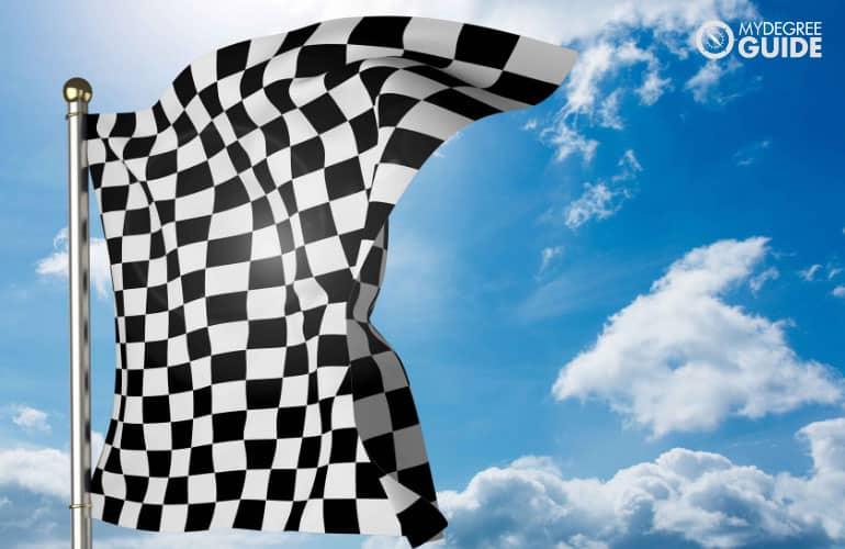 a race flag