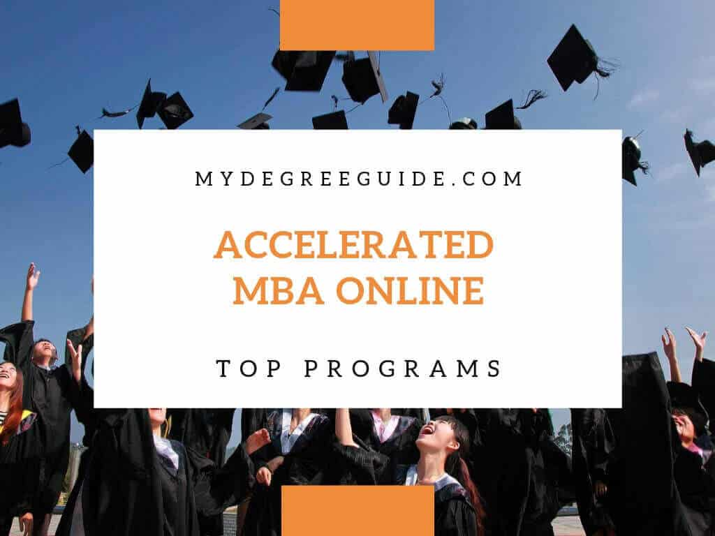 accelerated online MBA program students at graduation