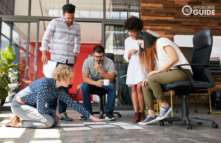 creative marketing team in a meeting