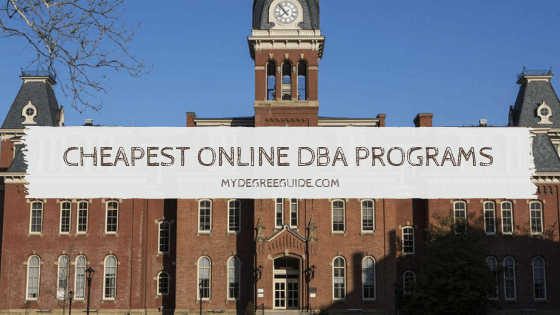Cheapest Online DBA Programs