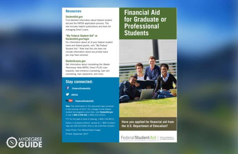 screenshot of financial aid pdf