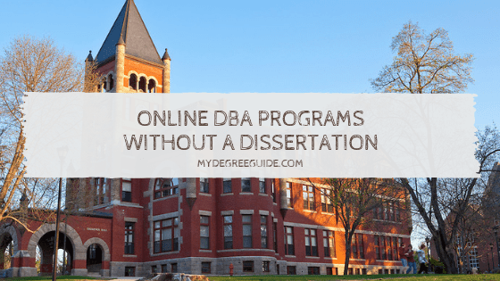 Online DBA Programs Without a Dissertation